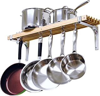 Cooks Standard Wall Mounted Wooden Pot Rack, 36 by 8-Inch (Renewed)