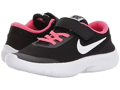 Nike Kids Flex Experience Run 7 (Little Kid) (Black/White/Racer Pink) Girls Shoes