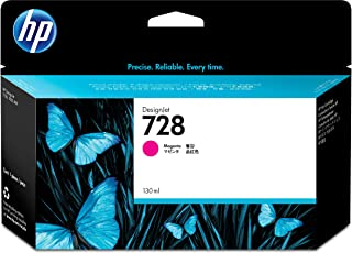 HP 728 Magenta 130-ml Genuine Ink Cartridge (F9J66A) for DesignJet T830 MFP & T730 Large Format Plotter Printers