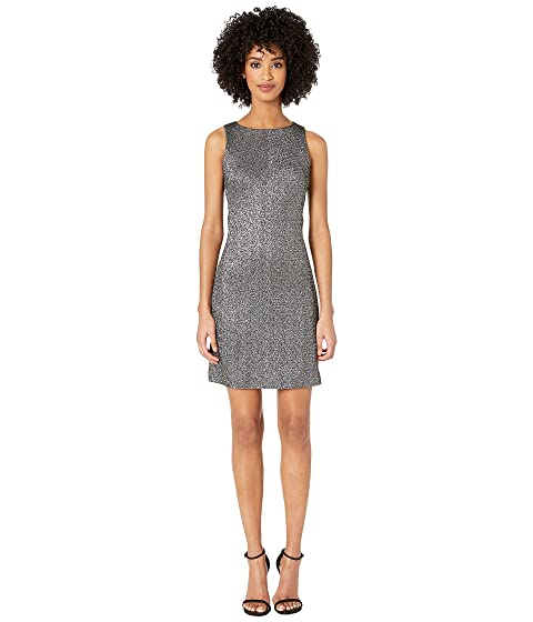 Versace Collection Woven Sheath Mini Dress in Stretch Silver