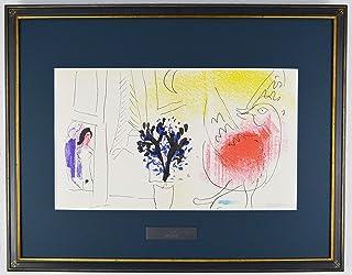 マルク シャガール 『赤い鶏【ジャック・ラセーニュ】』 絵画 版画 リトグラフ 1957年パリで制作 作家生前作品 ※90日間返品保証 無期限アフターサービス
