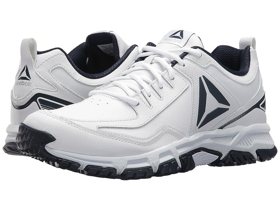Reebok Ridgerider Leather (White/Collegiate Navy) Men's Shoes, Blue