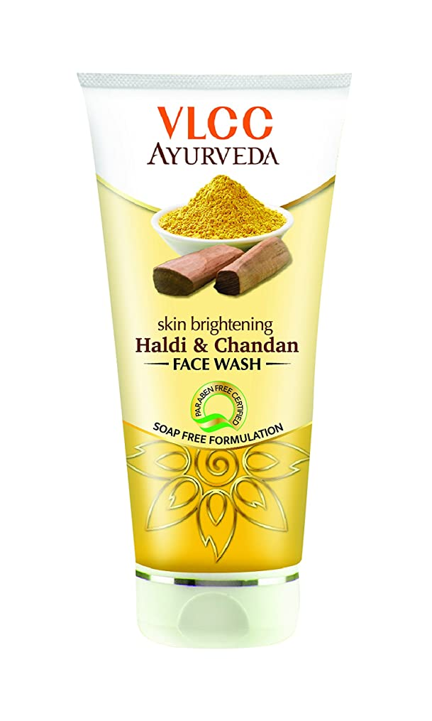 つかいますレンダー雨VLCC Ayurveda Skin Brightening Haldi and Chandan Facewash- 100ml