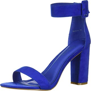 Herstyle Rumors Women's Fashion Chunky Heel Sandal Open Toe Wedding Pumps with Buckle Ankle Strap Evening Party Shoes