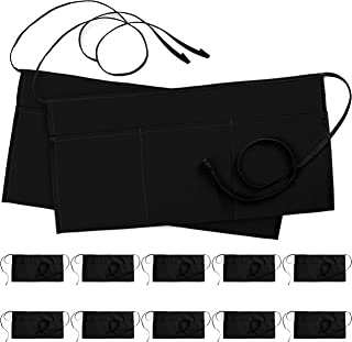 Utopia Wear 12 Pack 3 Pockets Waitress Apron, Waist Aprons for Home and Kitchen, 24 x 12 Inches, Black