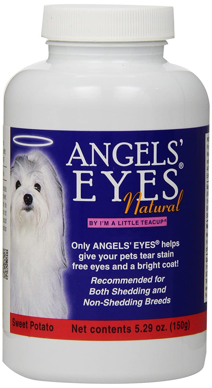 Angels' Eyes Natural Tear Stain Elimination and Remover, Sweet Potato Flavor, 225 gram