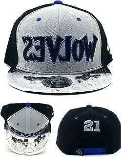 King's Choice Minnesota New Leader Gray Black KG Garnett 21 Era Snapback Hat Cap