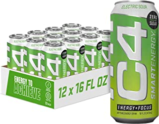 C4 Smart Energy Drink - Sugar Free Performance Fuel & Nootropic Brain Booster with No Artificial Colors or Dyes | Electic ...