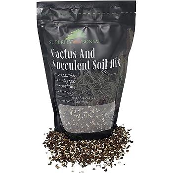 Succulent & Cactus Soil Mix - Premium Pre-Mixed Fast Draining Blend (1.25 Dry Quarts)