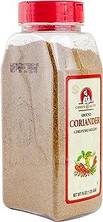 Coriander Ground Powder - 1 Pound (16 OZ), Premium Grade & Fleshly Packed - Chef Quality (Ground)