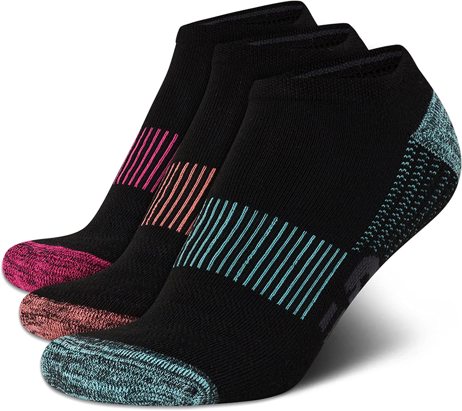 New Balance Women's Big and Tall Socks - Athletic Performance No Show Ankle Sock Liners (3 Pack)