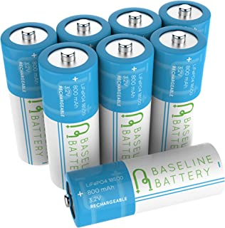 Best lithium phosphate rechargeable battery 18500 Reviews