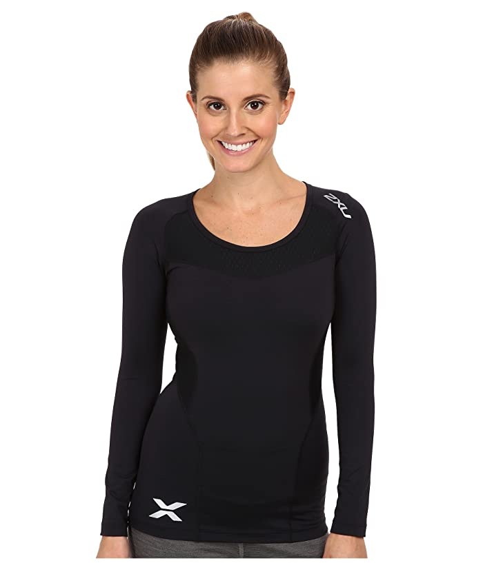 2XU Compression L/S Top (Black/Black) Women