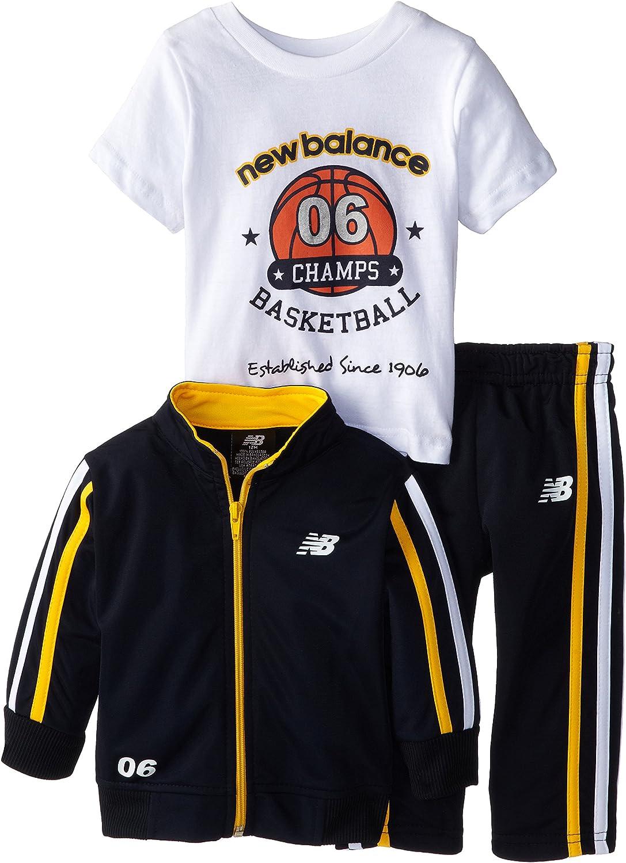 New Balance Baby Boys' Brushed Tricot Jacket and Pant Set