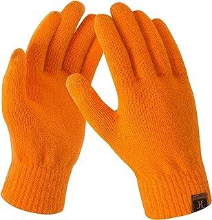 SilenceID Guanti invernali da donna Scaldamuscoli in lana lavorata a mano senza dita Guanti lunghi termici caldi caldi con foro per il pollice