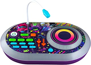 Trolls World Tour DJ Trollex Party Mixer Turntable Toy for Kids Toddler Children, Built in Microphone, Record, Sound Effects, LED Light Show