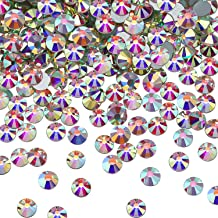 SS20 AB Crystal Diamond Rhinestones Flat Back Round Rhinestones Iridescent Crystals Round Beads Flat Back Glass (1440)