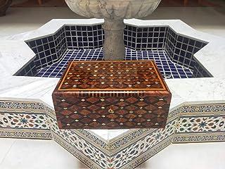 scatola di gioielli in legno di cedro, scatola di legno con serratura, scatola di legno per i gioielli, scatola berbera ma...