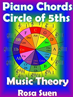 Piano Chords - Circle of 5ths Fully Explained and Application to the Piano: Music Theory (Music Piano Lessons Book 1)