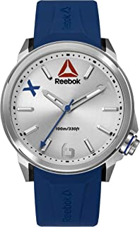 Reebok Men's Silver Dial Silicone Band Watch - Rd-Fla-G2-S1In-1N, Analog Display, Quartz Movement