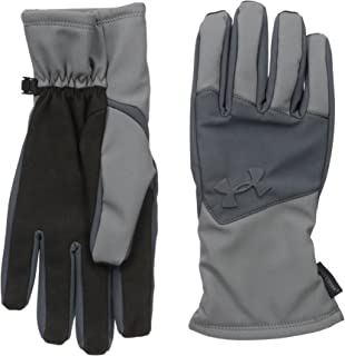 Under Armour Men's ColdGear Infrared Softshell Gloves, Graphite/Stealth Gray, Medium