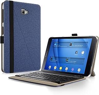 Infiland Teclado Funda Compatible for Samsung Galaxy Tab A 10.1,Ultra Fino Case con Magnético Desmontable Teclado para Galaxy Tab A 10.1 2016 T580N/T585N Tablet (Spanish Teclado,Azul Oscuro)