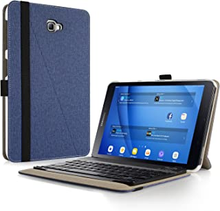 Infiland Samsung Galaxy Tab A 10.1 Keyboard Case, Premium Shell Stand Case Cover with Detachable Bluetooth Keyboard Compatible with Galaxy Tab A 10.1 Inch Tablet (SM-T585/SM-T580), Navy