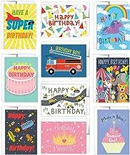 10 کارت تولد کودک 10 پیام با پیام های داخل و پاکت نامه های کوچک