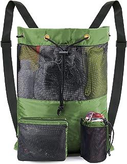 Mesh Drawstring Bag Backpack Durable Swimming String Sack for Sports Gym Beach