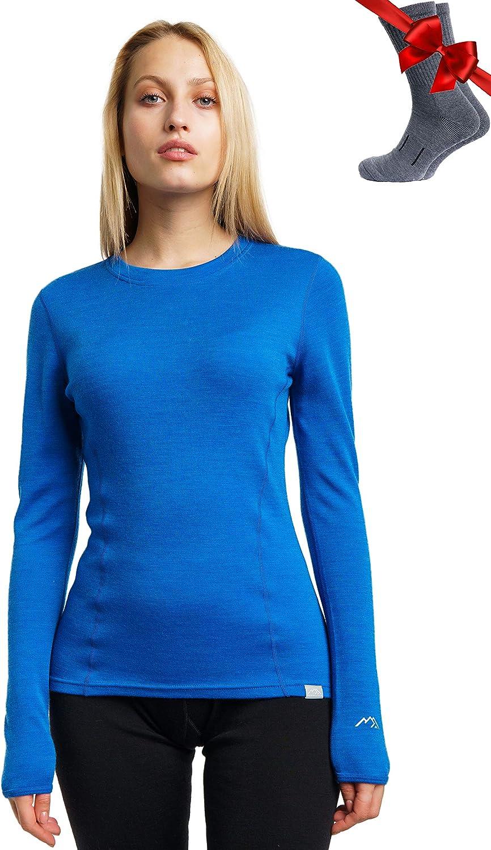 Merino.tech Merino Wool Base Layer Women 100/% Merino Wool Midweight Long Sleeve Thermal Shirts Merino Wool Hiking Socks