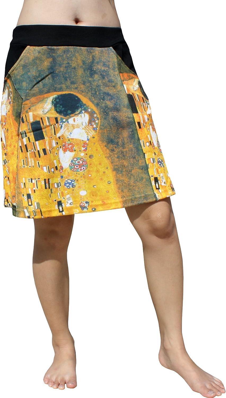 RaanPahMuang Short Skirt Two Pocket  Gustav Klimt  The Kiss