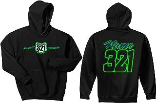 JUST RIDE Motocross Number Plate Custom Personalized Hoodie Sweat Shirt Jacket