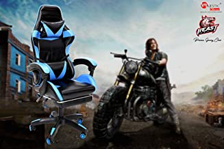 MAJESTIC® Beast High Back Home & Office Gaming Chair with Adjustable Armrest (Standard_Blue)