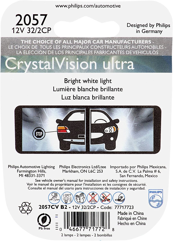 Bulbs 2 Pack Philips 3157CVB2 3157 CrystalVision Ultra Miniature ...