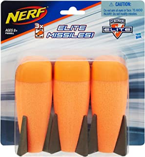 NERF Elite - 3 Pack official Missiles - for use with  Tri Strike & ECS 10 - Kids Toys & Outdoor games - Ages 8+
