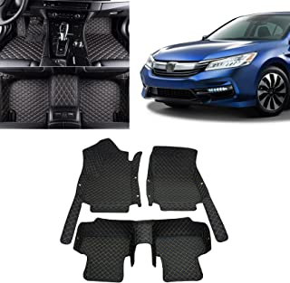 Toryea 3D Custom Waterproof Floor Mats Fit Honda Accord 2014 2015 2016 2017