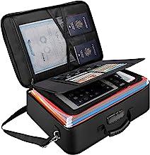 Document Organizer Fireproof Storage Bag, Tamfile File Storage Bag 17.2 x 12 x 6 inch, Large Size Portable Important Docum...