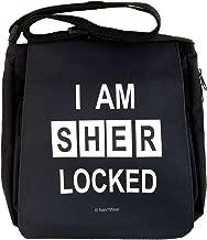 NaniWear Sherlock I Am Sherlocked Medium Geek Messenger Bag Black