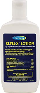 Farnam Repel-X Lotion Fly Repellent for Horses and Ponies, 8 ounce lotion