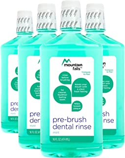 Mountain Falls Pre-Brush Dental Rinse, Mint, 16 Fluid Ounce (Pack of 4)