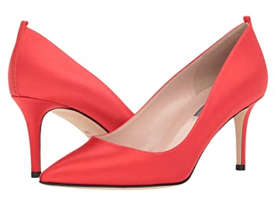 SJP by Sarah Jessica Parker Fawn 70mm (Red Satin) Women