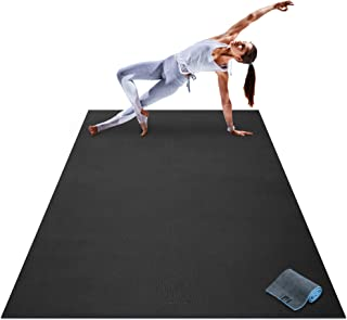 Premium Large Yoga Mat – 7' x 5' x 8mm Extra Thick, Ultra Comfortable,..
