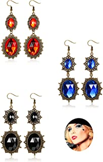 3 Pairs Drop Dangle Earrings Jewelry Set for Women Girls Gothic Vintage Style Earring Halloween Ghost Vampire