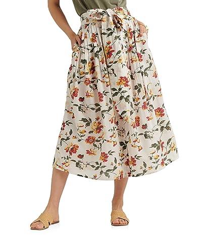Lucky Brand Long Floral Printed Sadie Skirt (Natural Multi) Women