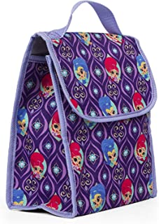 Nickelodeon 35304 Shimmer & Shine Purple Insulated Lunch Bag, Reusable Outdoor Travel Picnic School Lunch Box Collapsible ...