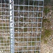 Freistehende Standtreppe Stahltreppe 4 Stufen//Breite 60cm H/öhe 84cm Verzinkt//Stabile Industrietreppe f/ür den Au/ßenbereich