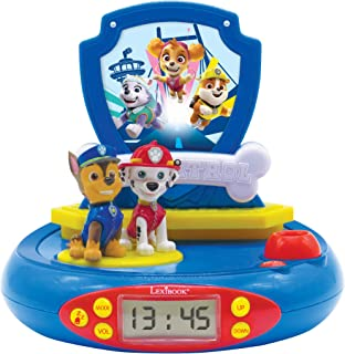 Lexibook Paw Patrol Chase Projector Radio Clock, Built-in Night Light, time Projection onto The Ceiling, Sound Effects, Ba...