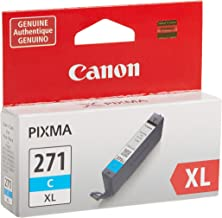 Canon CLI-271XL Cyan Ink Tank Compatible to MG6820, MG6821, MG6822, MG5720, MG5721, MG5722, MG7720, TS5020, TS6020, TS802...