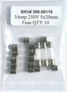 5X20mm Fast Blow GMA 3a 3 amp 250v UL Approved 5x 3A 250V GLASS Fuses F3a