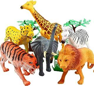 Animal Figure,8 Inch Jumbo Jungle Animal Toy Set(12 Piece),Yeonha Toys Realistic Wild Vinyl Animal For Kids Toddler Child,...